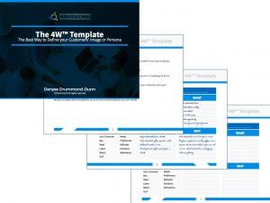 Complete this 4W persona template for customer centricity