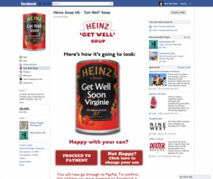 Free communication on Heinz soup cans